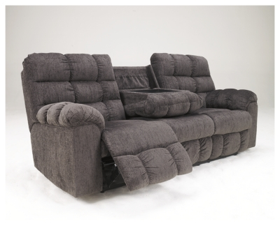 Picture of: Acieona Reclining Sofa With Drop Down Table Ashley Furniture Homestore
