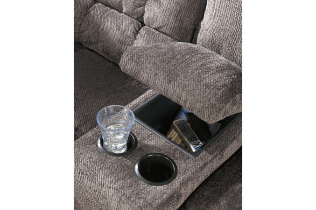 Acieona Reclining Loveseat with Console, , large