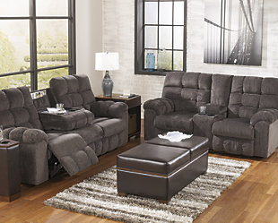 Acieona Reclining Sofa with Drop Down Table, , rollover