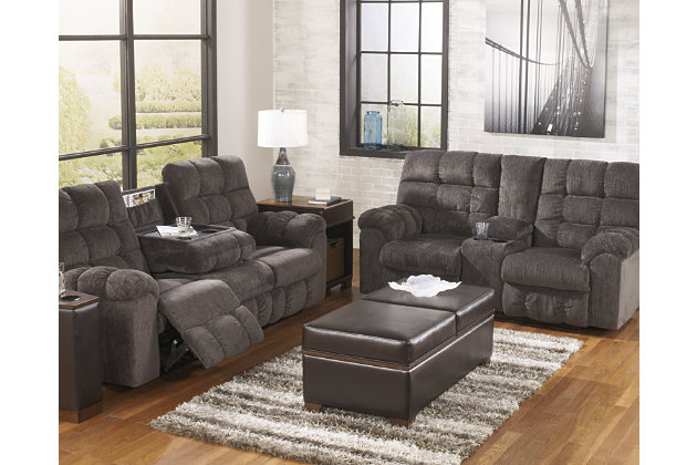 Acieona Reclining Sofa With Drop Down Table, , Large ...