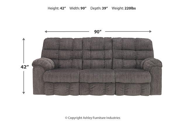 Acieona Reclining Sofa with Drop Down Table, , large