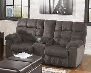 Acieona Reclining Loveseat with Console, , rollover