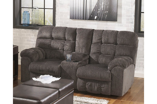 Acieona Reclining Loveseat With Console Ashley Furniture