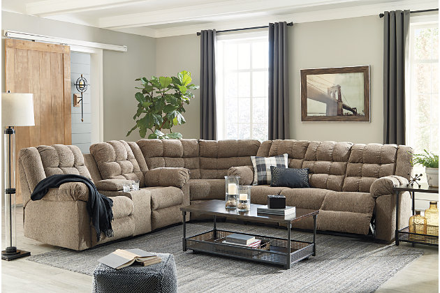 Workhorse 3-Piece Reclining Sectional, , large