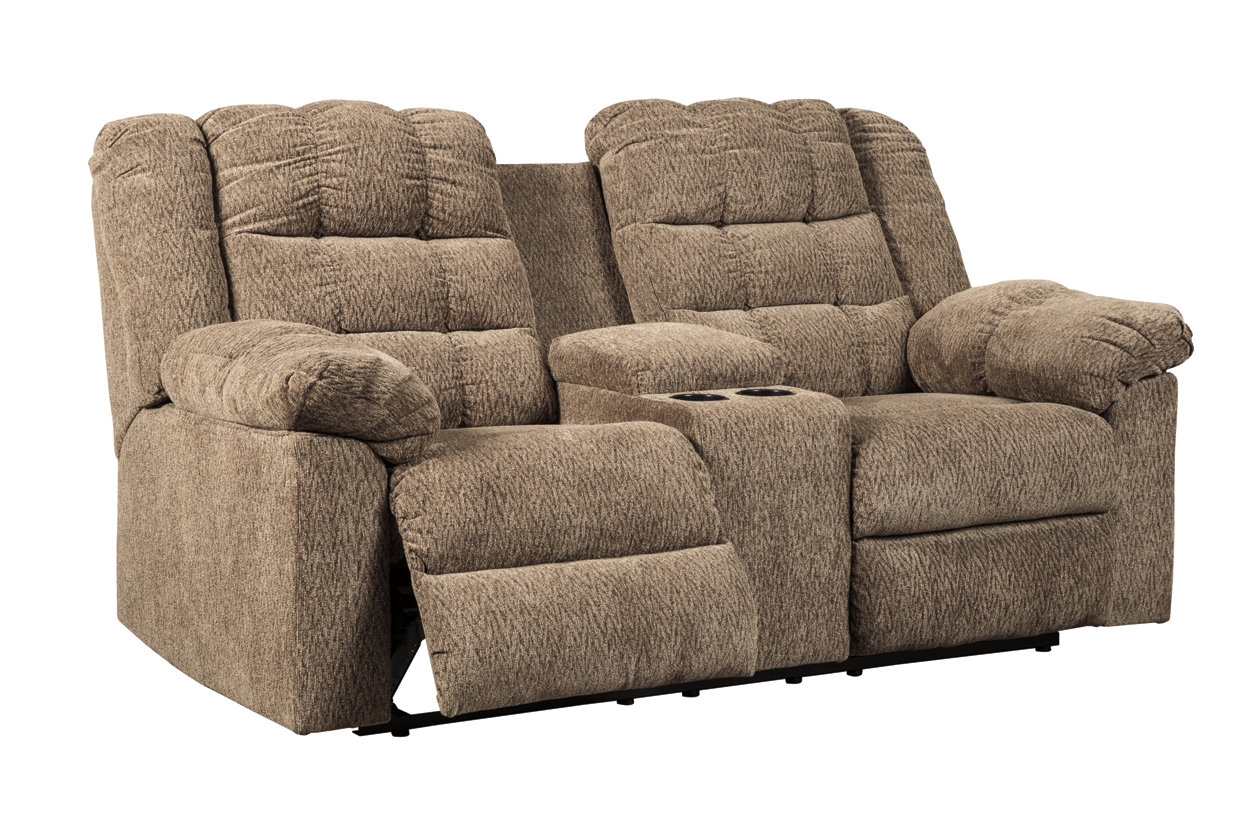 Prime Workhorse Reclining Loveseat With Console Ashley Furniture Squirreltailoven Fun Painted Chair Ideas Images Squirreltailovenorg