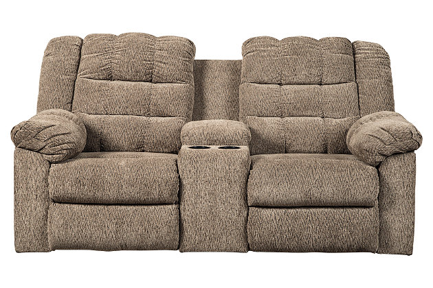 Workhorse Reclining Loveseat with Console, , large