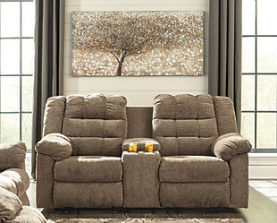 Workhorse Reclining Loveseat with Console, , rollover