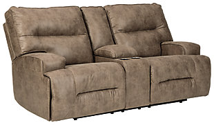 Hazenburg Reclining Loveseat with Console, , large