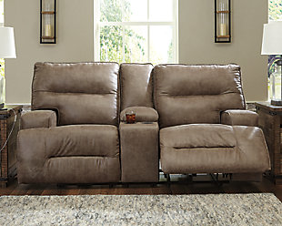 Hazenburg Reclining Loveseat with Console, , rollover