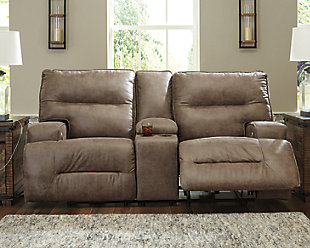 Hazenburg Power Reclining Loveseat with Console, , rollover