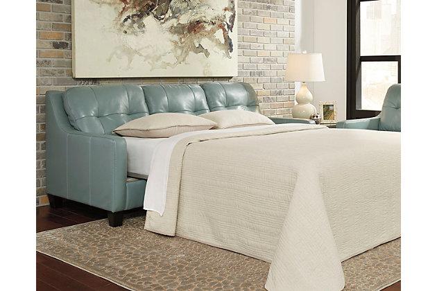 O'Kean Queen Sofa Sleeper by Ashley HomeStore, Blue, Leat...