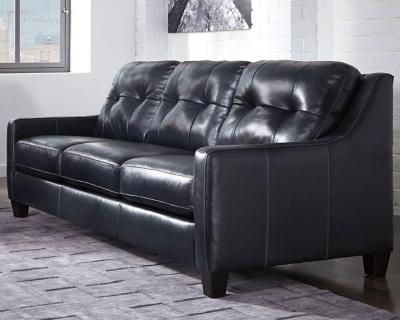 Ashley O'Kean Sofa, Navy Leather