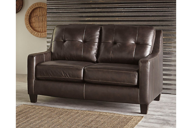 O'Kean Loveseat, Mahogany, large