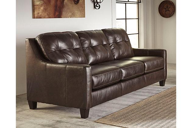 O'Kean Sofa by Ashley HomeStore, Brown, Leather (100 %)
