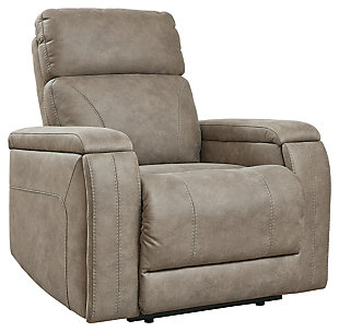 Rowlett Power Recliner, Fog, large