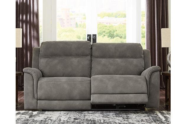 Next-Gen DuraPella Power Reclining Sofa, Slate, large