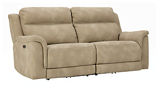 Next-Gen DuraPella Power Reclining Sofa, Sand, large