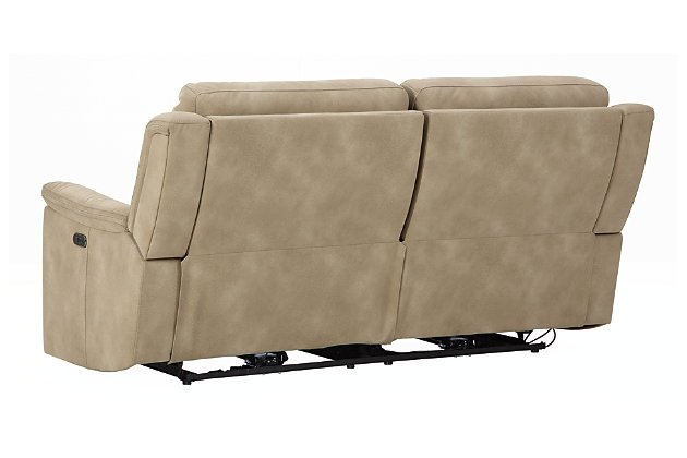 Next-Gen DuraPella Power Reclining Sofa, Sand, large