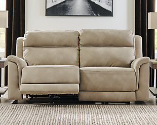 Next-Gen DuraPella Power Reclining Sofa, Sand, rollover