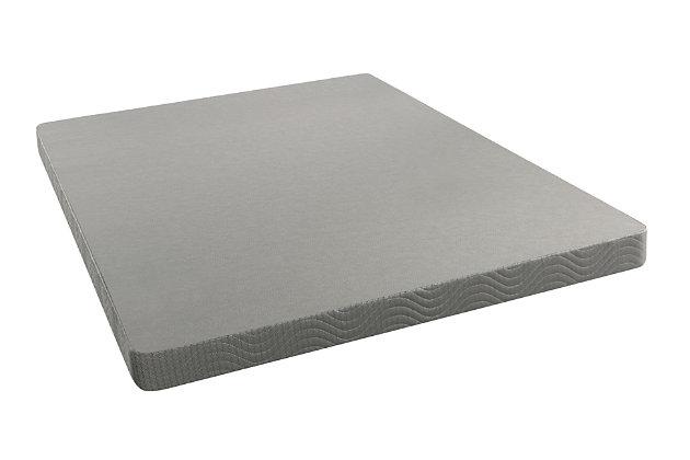 BeautySleep Twin Low Profile Foundation, Gray, large