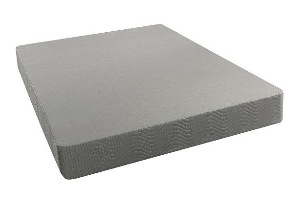 BeautySleep Full Standard Height Foundation, Gray, large