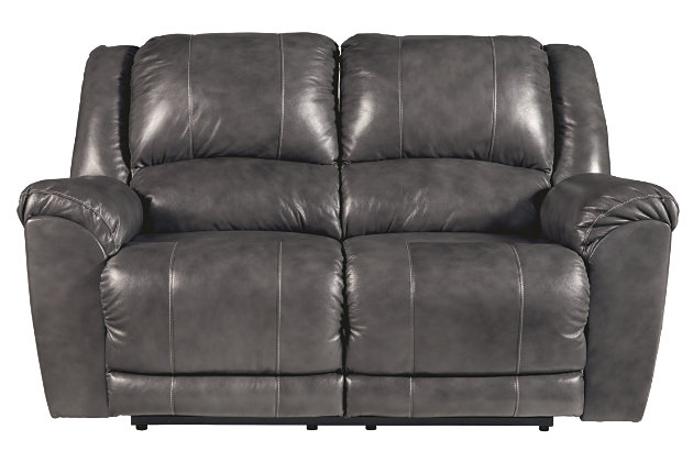 Persiphone Power Reclining Loveseat, Charcoal, large
