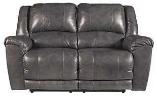 Persiphone Reclining Loveseat, Charcoal, large