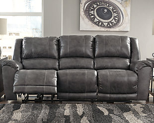Persiphone Power Reclining Sofa, Charcoal, rollover