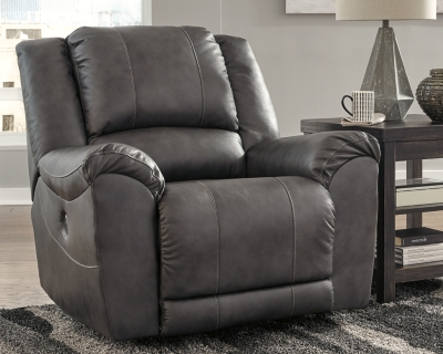 Recliner Charcoal Leather Power Product Photo 960