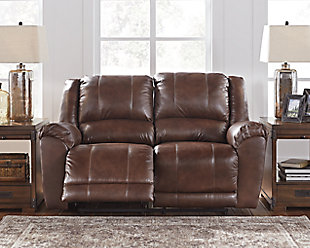 Persiphone Reclining Loveseat, Canyon, rollover