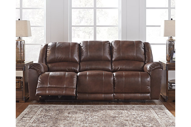 Persiphone Reclining Sofa by Ashley HomeStore, , Leather (100 %)
