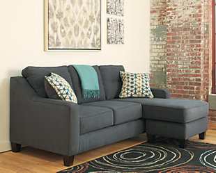 Shayla Sofa Chaise, Dark Gray, large