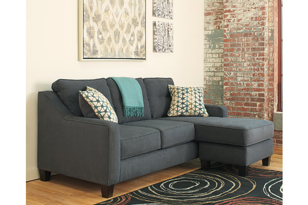 Shayla Sofa Chaise Dark Gray Large