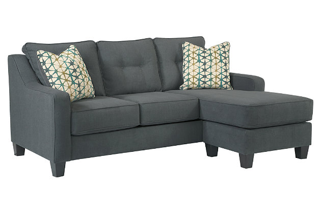 Attrayant ... Shayla Sofa Chaise, Dark Gray, Large ...