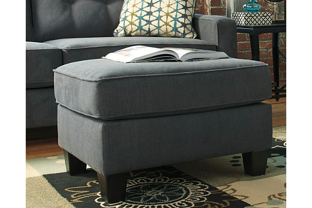 Shayla Ottoman by Ashley HomeStore, Gray, Polyester (100 %)