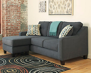 Shayla Sofa Chaise, Dark Gray, rollover