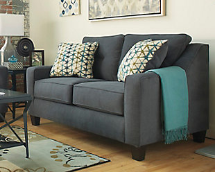 ... Large Shayla Loveseat, Dark Gray, Rollover
