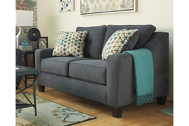 Shayla Loveseat, Dark Gray, large