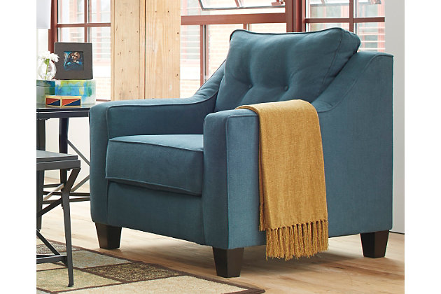Shayla Chair by Ashley HomeStore, Teal, Polyester (100 %)