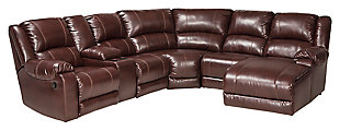 MacGrath 6-Piece Reclining Sectional with Chaise, , large