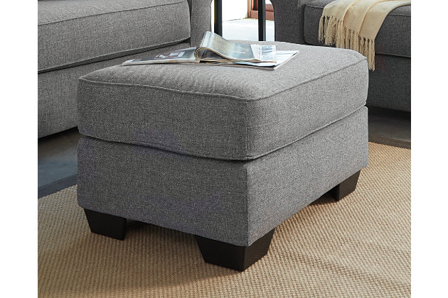 Nalini Ottoman by Ashley HomeStore, Gray, Polyester (100 %)