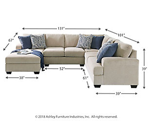Enola 4-Piece Loveseat Sectional, , large