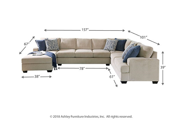 Enola 4-Piece Sectional with Chaise, , large