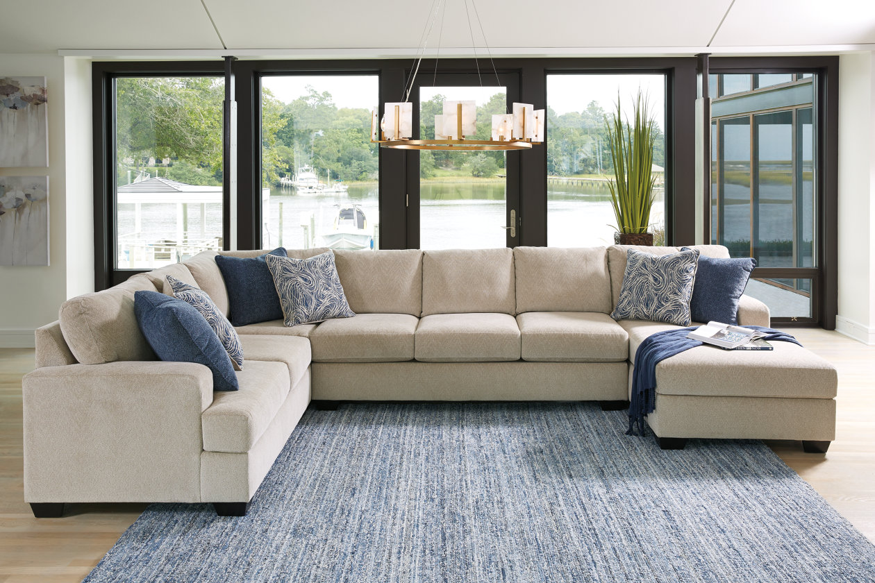 Peachy Enola 4 Piece Sectional With Chaise Ashley Furniture Homestore Creativecarmelina Interior Chair Design Creativecarmelinacom