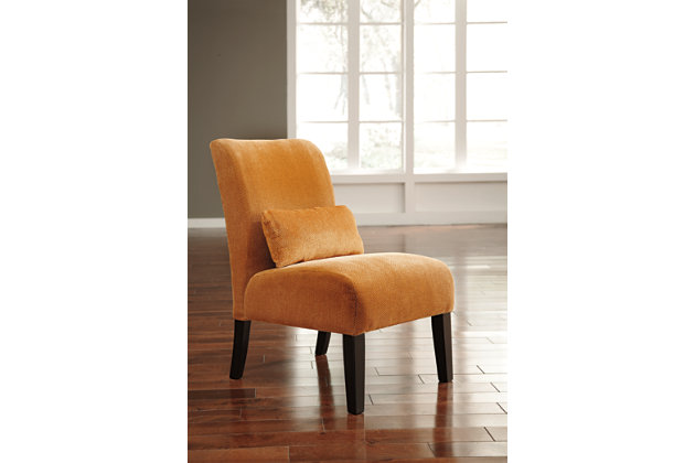 Annora Accent Chair, Orange, large