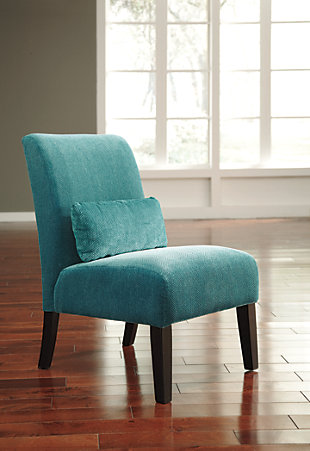 Annora Accent Chair, Teal, large