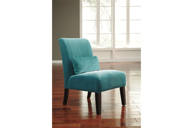 Teal Annora Accent Chair by Ashley HomeStore, Polyester (100 %)
