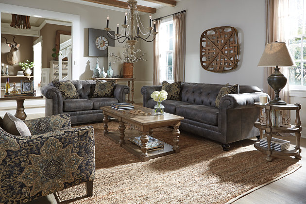Home decor example using this living room furniture item - Hartigan Sofa Ashley Furniture HomeStore