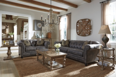 Loveseat Cobble Stone Leather Sofa Product Photo 217