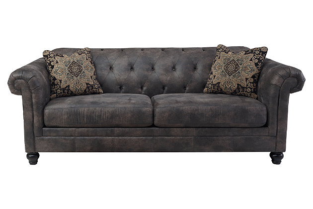 ashley furniture tufted sofa